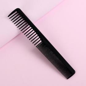 Расчёска комбинированная, скошенная, цвет чёрный Ош