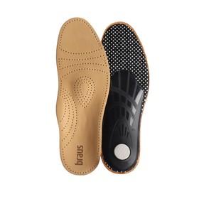 Стельки для обуви амортизирующие, с жёстким супинатором, 37-38 р-р, пара, цвет светло-коричневый