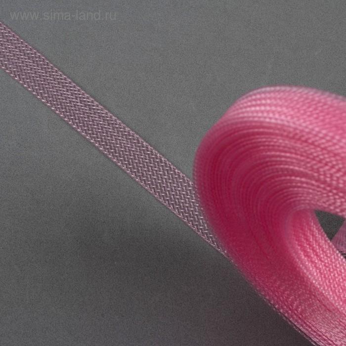 Регилин плоский, 10мм, 45±1м, цвет розовый