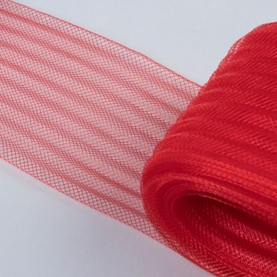 Регилин плоский, гофрированный, 70 мм, 20 ± 1 м, цвет красный