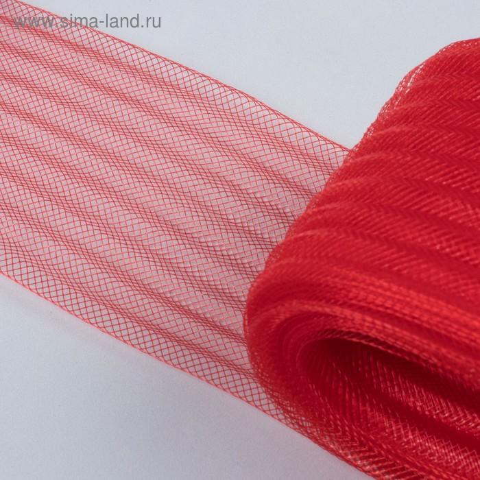 Регилин плоский, гофрированный, 70мм, 20±1м, цвет красный