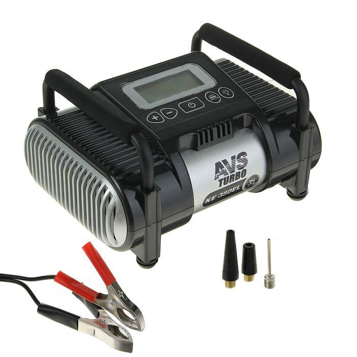 Компрессор автомобильный AVS KE350EL, 35 л/мин, 12 В, фонарь, электронный дисплей, ограничитель давления