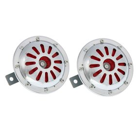Сигнал автомобильный AVS Electric 1046, 12 В, 335/435 Гц, 115 Дб, d=125 мм, набор 2 шт. Ош