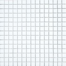 Mозаика стеклянная Elada Mosaic А11, белая, 327х327х4 мм