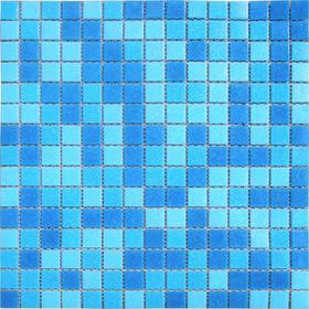 Mозаика стеклянная Elada Mosaic MC107, голубая, 327х327х4 мм