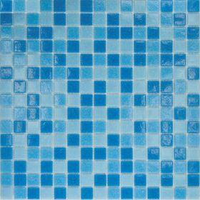 Mозаика стеклянная Elada Mosaic MC123, голубая, 327х327х4 мм