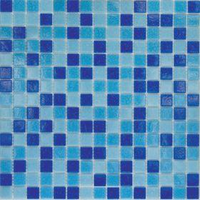 Mозаика стеклянная Elada Mosaic MC, сине-голубая, 327х327х4 мм