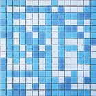 Mозаика стеклянная Elada Mosaic MCD002, бело-голубая, 327х327х4 мм