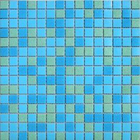 Mозаика стеклянная Elada Mosaic MCD003, сине-зелёная, 327х327х4 мм Ош