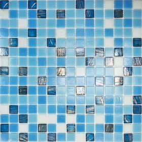 Mозаика стеклянная Elada Mosaic HK-15, синяя, 327х327х4 мм
