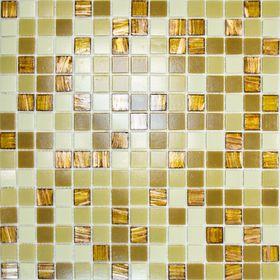 Mозаика стеклянная Elada Mosaic HK-20, карамельная, 327х327х4 мм