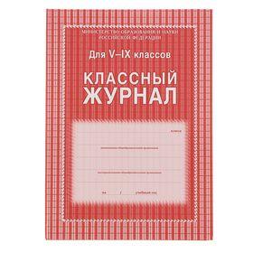 Классный журнал для 5-9 классов А4, 168 страниц, твердая ламинированная обложка, блок офсет 65г/м2 Ош