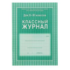 Классный журнал для 10-11 классов А4, 184 страницы, твердая ламинированная обложка, блок офсет 65г/м2 Ош