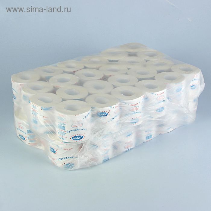 Туалетная бумага «Супермягкая», 48 м, со втулкой