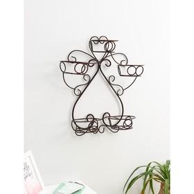Подставка для цветов «Горшок», d=16 см, цвет черный Ош