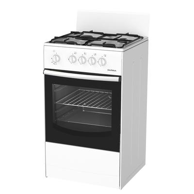 Плита Darina S GM 441 001 W, газовая, 4 конфорки, 50 л, газовая духовка, белая - Фото 1