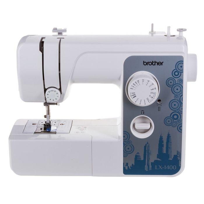 Швейная машина Brother LX-1400S, 14 операций, обметочная, потайная, эластичная строчка, бел
