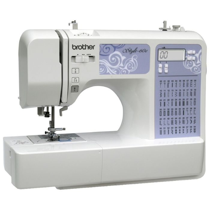 Швейная машина Brother Style 60e, 40 Вт, 60 операций, автомат, бело-голубая