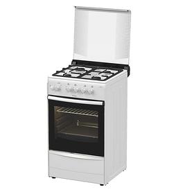 Плита Darina 1B1 GM 441 018 W, газовая, 4 конфорки, 50 л, газовая духовка, белая