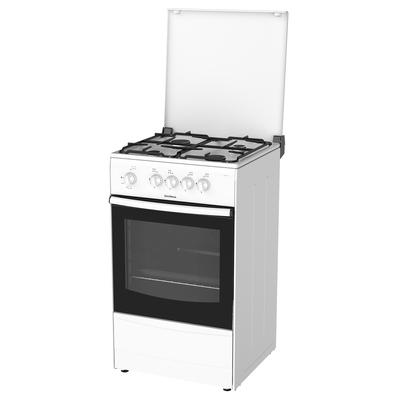 Плита Darina 1A GM 441 002 W, газовая, 4 конфорки, 50 л, газовая духовка, белая - Фото 1