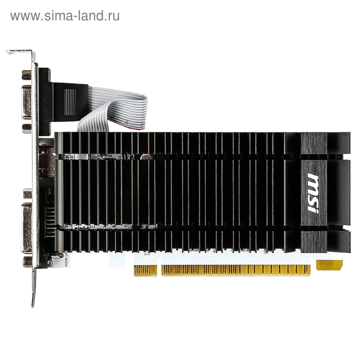 Видеокарта MSI GeForce GT 730 (N730K-2GD3H/LP) 2G,64bit,GDDR3,902/1600,DVI,HDMI,CRT