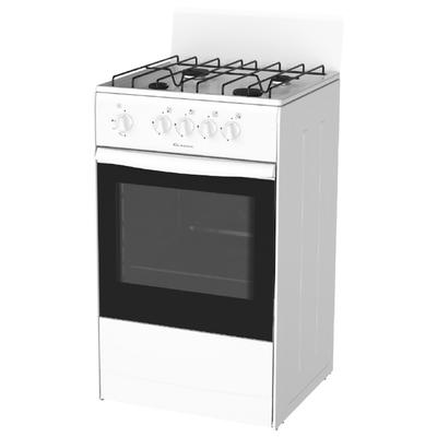 Плита Darina S4 GM 441 101 W, газовая, 4 конфорки, 50 л, газовая духовка, белая - Фото 1