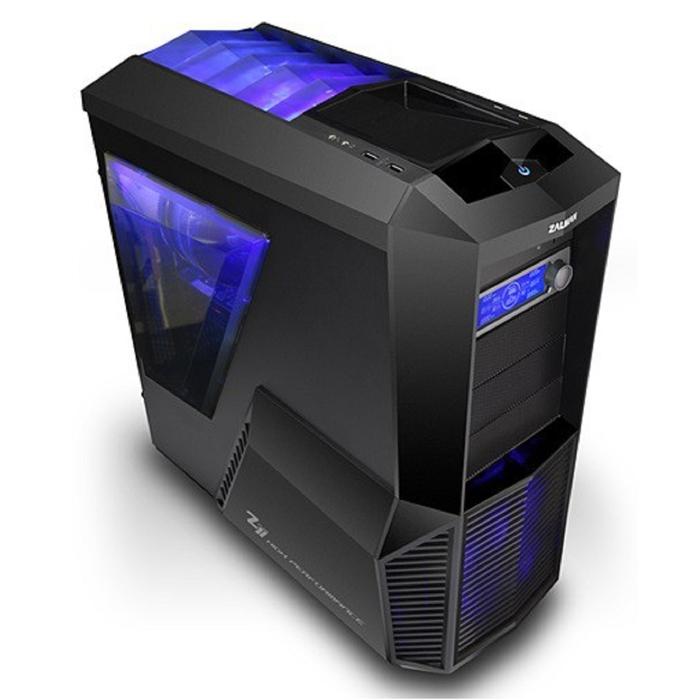 Корпус Zalman Z11 PLUS, Без БП, ATX, черный