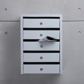Ящик почтовый, 5 секций, с ключами и замком ЯПП-5