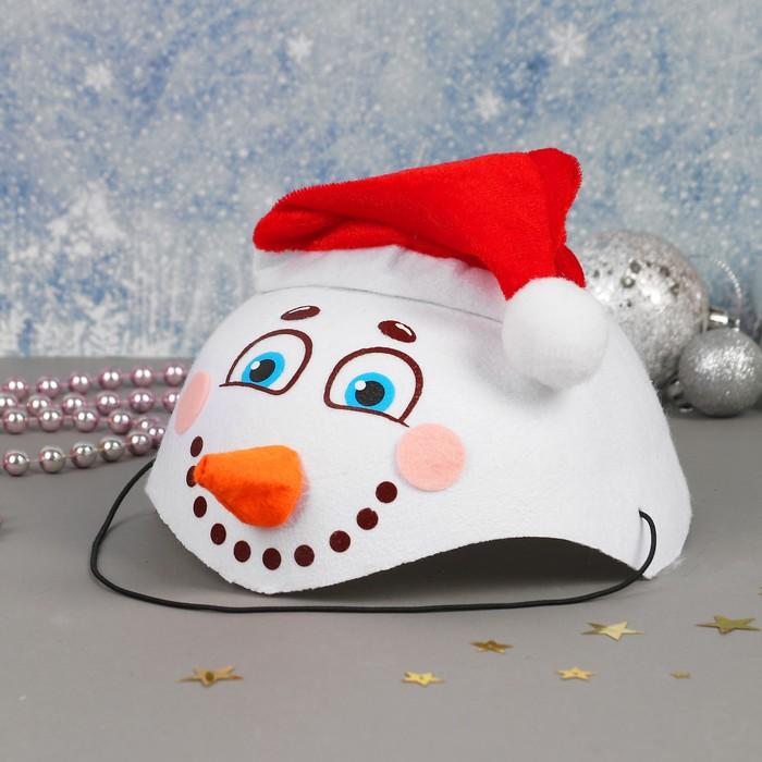 Карнавальная шляпа Снеговик с носом