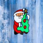 "Наклейка на стекло ""Дед Мороз с ёлкой"" 9х14 см"