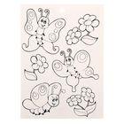 Наклейки с раскраской на обороте «Бабочки», 11 х 15 см - Фото 2