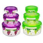Набор пищевых контейнеров «Виноград», 3 шт: d=8,5; 11; 14 см, цвет МИКС - Фото 7