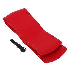 Сшивной чехол на руль, искусственная кожа, 90 х 10 см, красный Ош