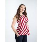 Туника женская для беременных, размер 44, рост 168, цвет красная полоска (арт. 0362)