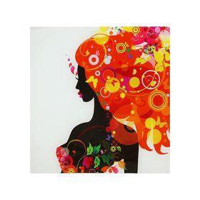 Картина на стекле 'Оранжевая феерия дамы'30*30см Ош