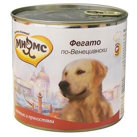 """Влажный корм Мнямс """"Фегато по-Венециански"""" для собак, телячья печень с пряностями, 600г"""