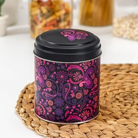 Банка для сыпучих продуктов «Бута», 800 мл, d=10 см, круглая, цвет лиловый