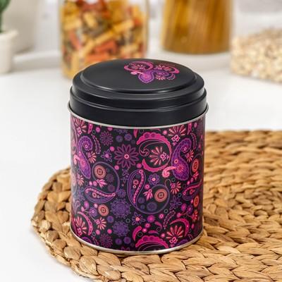 Банка для сыпучих продуктов «Бута», 800 мл, d=10 см, круглая, цвет лиловый - Фото 1