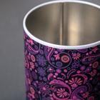 Банка для сыпучих продуктов «Бута», 800 мл, d=10 см, круглая, цвет лиловый - Фото 3
