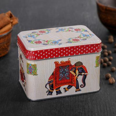 Банка для сыпучих продуктов «Индийский слон», 400 мл, прямоугольная, цвет МИКС - Фото 1