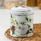 Банка для сыпучих продуктов «Чайная церемония», 800 мл, d=9,9 см, круглая, МИКС - Фото 2
