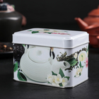 Банка для сыпучих продуктов «Чайная церемония», 400 мл, d=6,9 см, прямоугольная, МИКС - Фото 1
