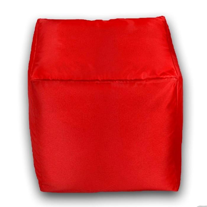 Пуфик Куб мини, ткань нейлон, цвет красный