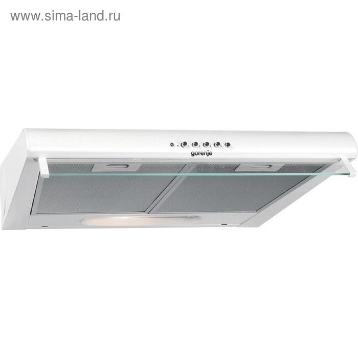 Вытяжка Gorenje DU5446W, плоская, 290 Вт, 171 м3/ч, 3 скорости, 50 см, белый