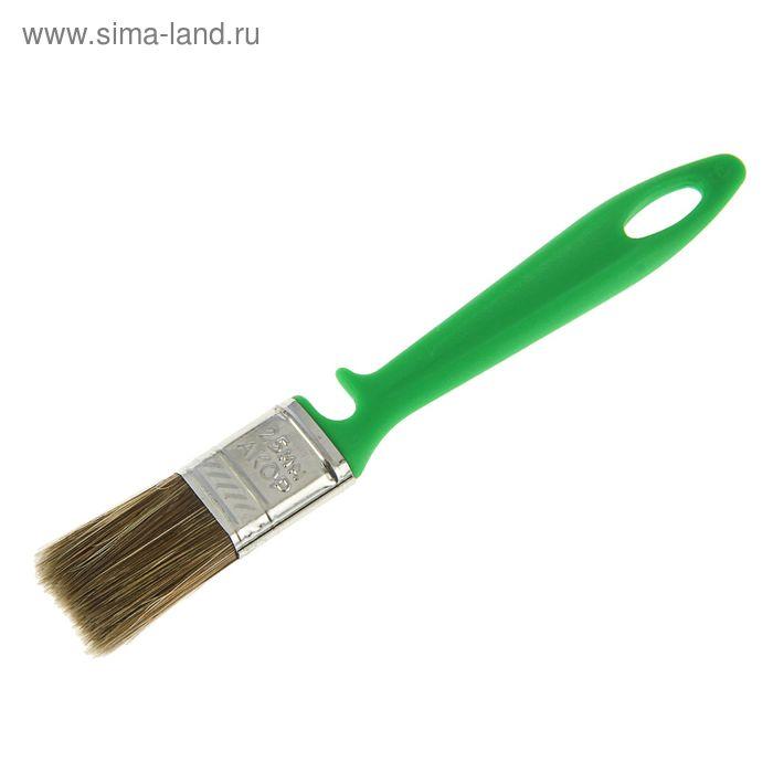 """Кисть плоская """"АКОР"""", 25х10 мм, ручка пластик, смешанная щетина, для дерева"""