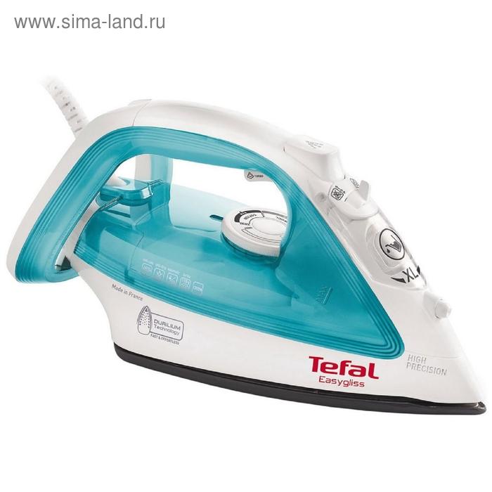 Утюг Tefal FV3910E0, 2200 Вт, керамическая подошва, вертикальное отпаривание, голубой