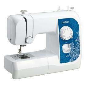 Швейная машина Brother M14, 14 операций, обметочная, потайная, эластичная строчка, белый Ош