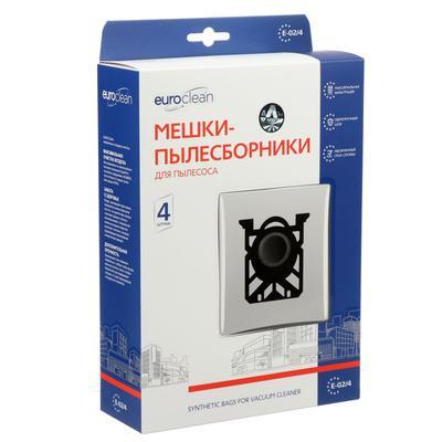Мешок-пылесборник Euro синтетический, многослойный, 4 шт (Electolux S-Bag) - Фото 1