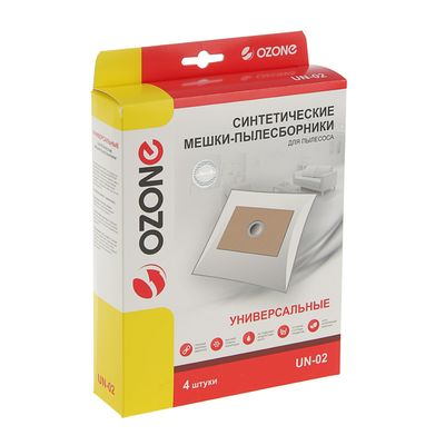 Пылесборник синтетический Ozone micron UN-02 универсальный, 4 шт