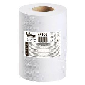 Полотенца бумажные Veiro Professional Basic в рулонах с ЦВ, 300 метров